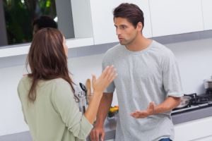 Constant couple arguing in the kitchen -Criticism In A Relationship
